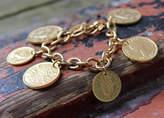 Anna Lou of London Coin Bracelet