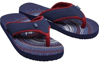 Animal Womens Swish Placement Flip Flops Mid Navy Blue