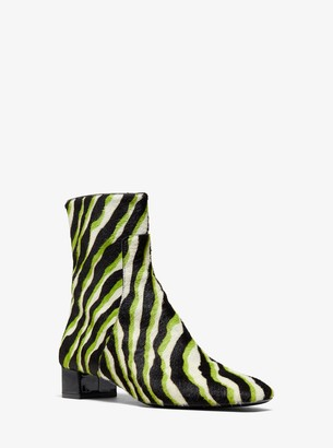 Michael Kors Quinn Zebra Calf Hair Ankle Boot