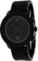 Movado Bold 3600048 Men's Round Black Resin Watch