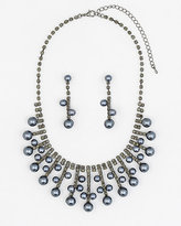 Le Château Gem & Pearl-Like Earrings & Necklace Set