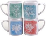 Certified International Sea Finds Water Coral 4-pc. Coffee Mug Set