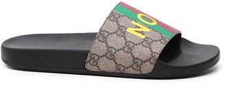 Gucci Logo Printed Slide Sandals