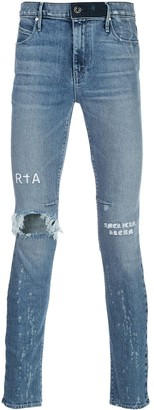 RtA High Rise Skinny Fit Distressed Jeans