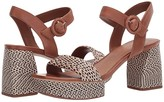 Bernardo Reagan Heeled Sandal (Natural/Black Multi Raffia) Women's Sandals