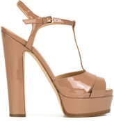 Sergio Rossi platform sandals - women - Leather/Patent Leather - 37
