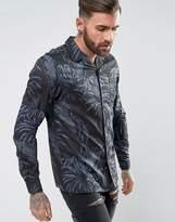 Asos Regular Fit Pajama Shirt With Revere Collar In Dark Floral Print
