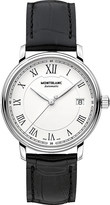 Montblanc 112611 Tradition stainless steel and leather watch