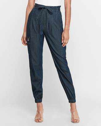 Express High Waisted Cargo Jogger Pant