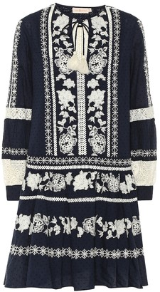 Tory Burch Boho embroidered cotton minidress