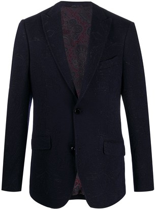 Etro Paisley Jacquard Single-Breasted Blazer