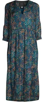 Johnny Was Celestun Printed Silk Midi Dress