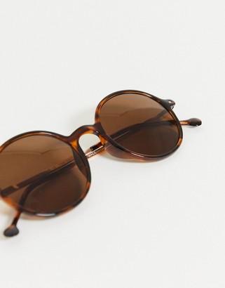A. J. Morgan AJ Morgan noodles tortoise shell round sunglasses