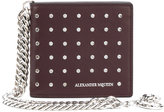 Alexander McQueen studded wallet with chain detail - men - Calf Leather - One Size