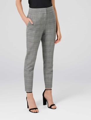 Forever New Miranda Petite Check Pants - Grey Check - 12