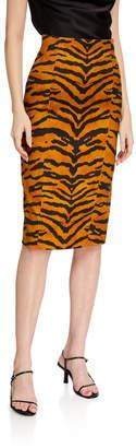 ADAM by Adam Lippes Tiger Striped Pencil Skirt