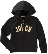 Juicy Couture Fleece Embroidered Knit Hoodie (Big Girls)