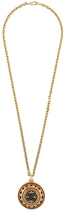 Chanel Pre Owned 1989-90 floral CC medallion necklace