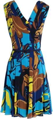 Carolina Herrera Pleated Printed Silk-blend Dress