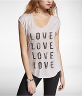 Express Dolman Graphic Tee - Love X 4