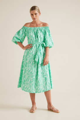 Seed Heritage Paisley Off Shoulder Dress