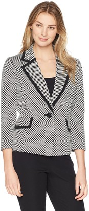 Kasper Women's Mini DOT Knit 1 BTN JKT