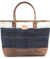 Will Leather Goods 'Indigo Batik' Cotton Canvas Tote