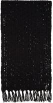 Yohji Yamamoto Black Mesh Stole Scarf
