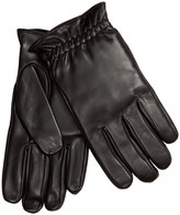 Specially made Leather Gloves with Gathered Cuffs - Fleece Lining (For Men)
