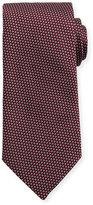 Eton Woven Two-Tone Textured Neat Silk Tie, Burgundy/Navy