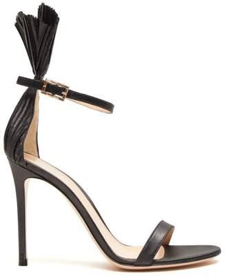 Gianvito Rossi Belvedere 105 Plisse-cuff Stiletto Sandals - Womens - Black