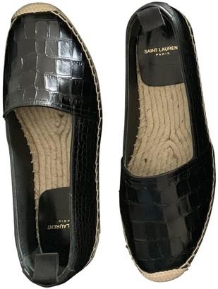Saint Laurent Black Crocodile Espadrilles