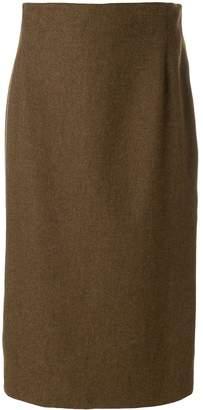 Krizia Pre Owned straight midi skirt