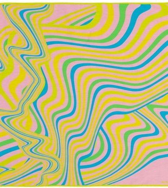 Acne Studios Printed cotton and silk scarf