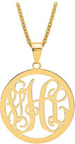 FINE JEWELRY Personalized 43x32mm Circle Monogram Pendant Necklace