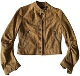 BCBGMAXAZRIA Short leather jacket