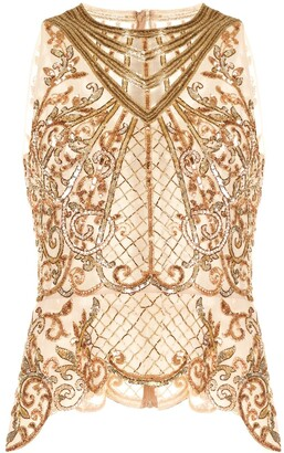 ZUHAIR MURAD Sequin Embellished Peplum Top