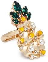 Anton Heunis Swarovski crystal pineapple ring
