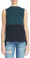 1 STATE Sleeveless Colorblock Top