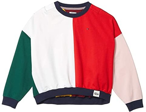Tommy Hilfiger Adaptive Color Block Long Sleeve T Shirt Bright White Racing Red Multi Women S Clothing Shopstyle Tees