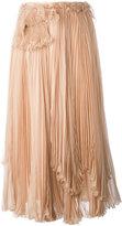 Rochas layered pleated skirt - women - Silk - 42