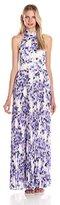 Eliza J Women's Halter Pleated Maxi Dress