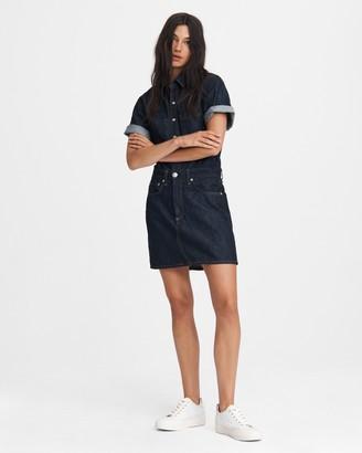 Rag & Bone All in one mini shirt dress