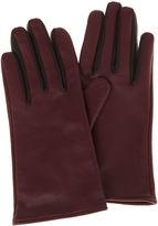 Karen Millen Contrasting Gloves - Aubergine