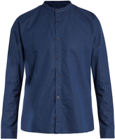 Sunspel Granddad-collar cotton-blend shirt