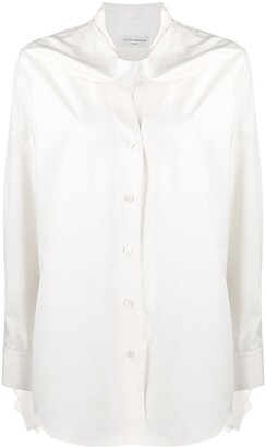 Victoria Beckham Oversized Scarf-Neck Shirt