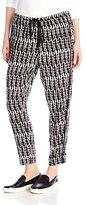 Plenty by Tracy Reese Women's Black Tye Dye Stripe Jog Pant