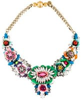 Shourouk Crystal Floral Statement Necklace