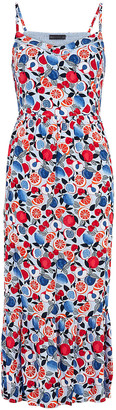 Marks and Spencer Fruit Print V-Neck Midi Slip Dress