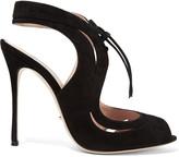 Sergio Rossi Yin Yang cutout suede sandals
